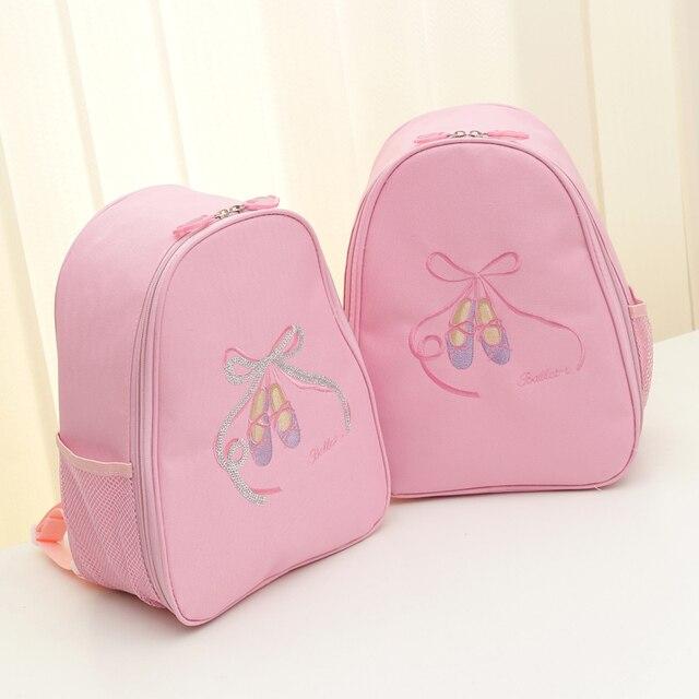 ae21bb24a7e2 Обувь для девочек Балетные костюмы танец мешок детей холст милый розовый  рюкзак с принтом Балетные костюмы