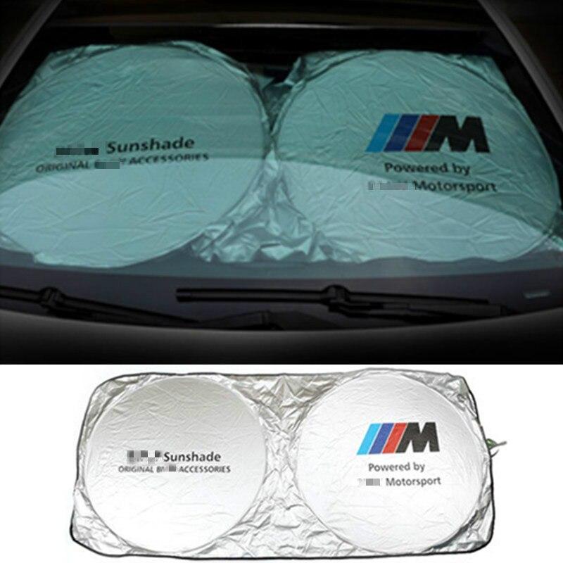 M Logo De Voiture Pare-Brise Avant Parasol Pour Audi Sline A1 A3 A5 BMW E36 E39 E46 E60 E90 E30 E34 F10 F15 F30 X1 X3 X5 X6 M M3 M5 M6
