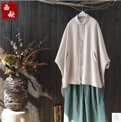 New product launch in the spring of 2017, the original design loose big yards 100% cotton linen casual womens shirt