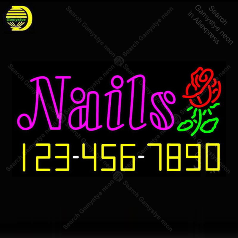 Neon Sign Nails with Phone Number Neon Light for Store Display Neon Bulbs Sign Decorative Arcade Neon Light Custom Affiche LampsNeon Sign Nails with Phone Number Neon Light for Store Display Neon Bulbs Sign Decorative Arcade Neon Light Custom Affiche Lamps