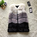 FF Brand Faux Fur Vest Winter Women Faux Fox Fur Vest Furry Slim Colored Fur Vest Woman Fake Fur Vest Plus Size High Quality