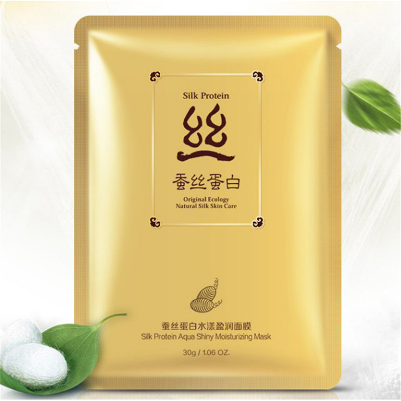 BIOAQUA Hydrating Facial Mask Ance Treatment Silk Protein Aqua Shiny Moisturizing Oil Control Face Mask 1pcs