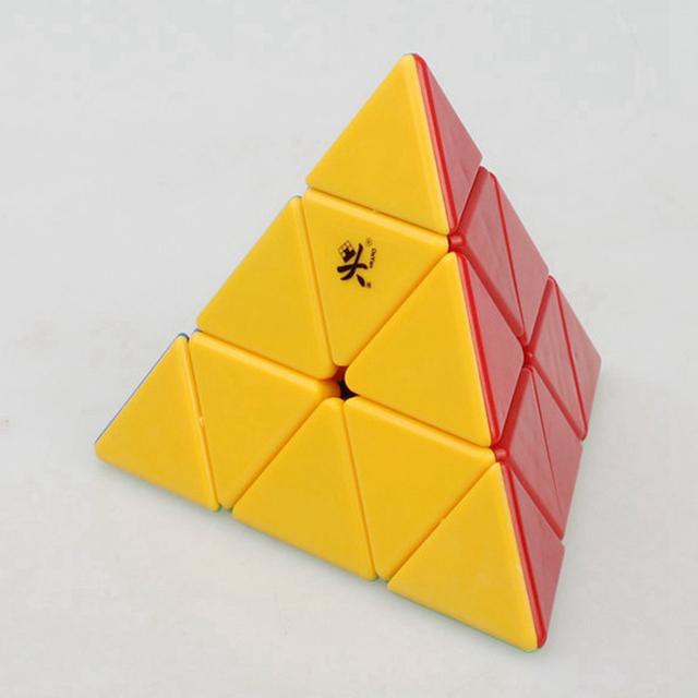 Dayan 3x3x3 Cubo Mágico Pirámide Pyraminx Velocidad Cubos Del Rompecabezas Juguetes Educativos Para Niños de Los Niños