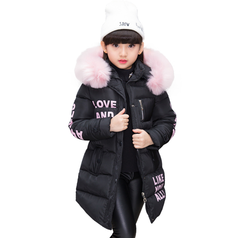 Image 4 - NEW Girl Winter Cotton Padded Jacket Children's Fashion Coat Kids Outerwear Baby's warm down jacket Children Clothing 4 12 years-in Jackets & Coats from Mother & Kids