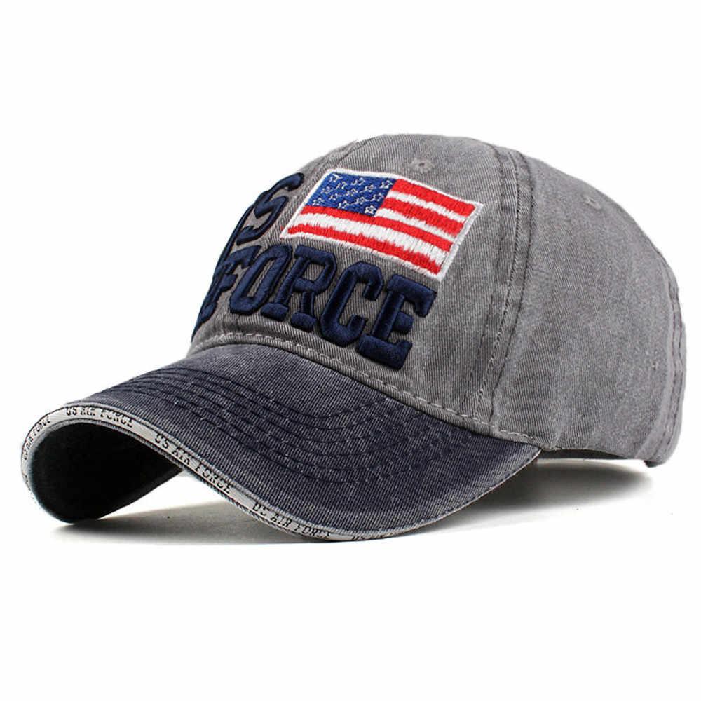 ขายผู้หญิงผู้ชายเบสบอลหมวกธงอเมริกันพิมพ์ DENIM หมวกแฟชั่นเบสบอลหมวก Snapback