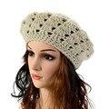 2017 Fashion Womens spherical Winter Warm Knit Crochet Ski Hat Baggy Berets stretchy Soft DE6
