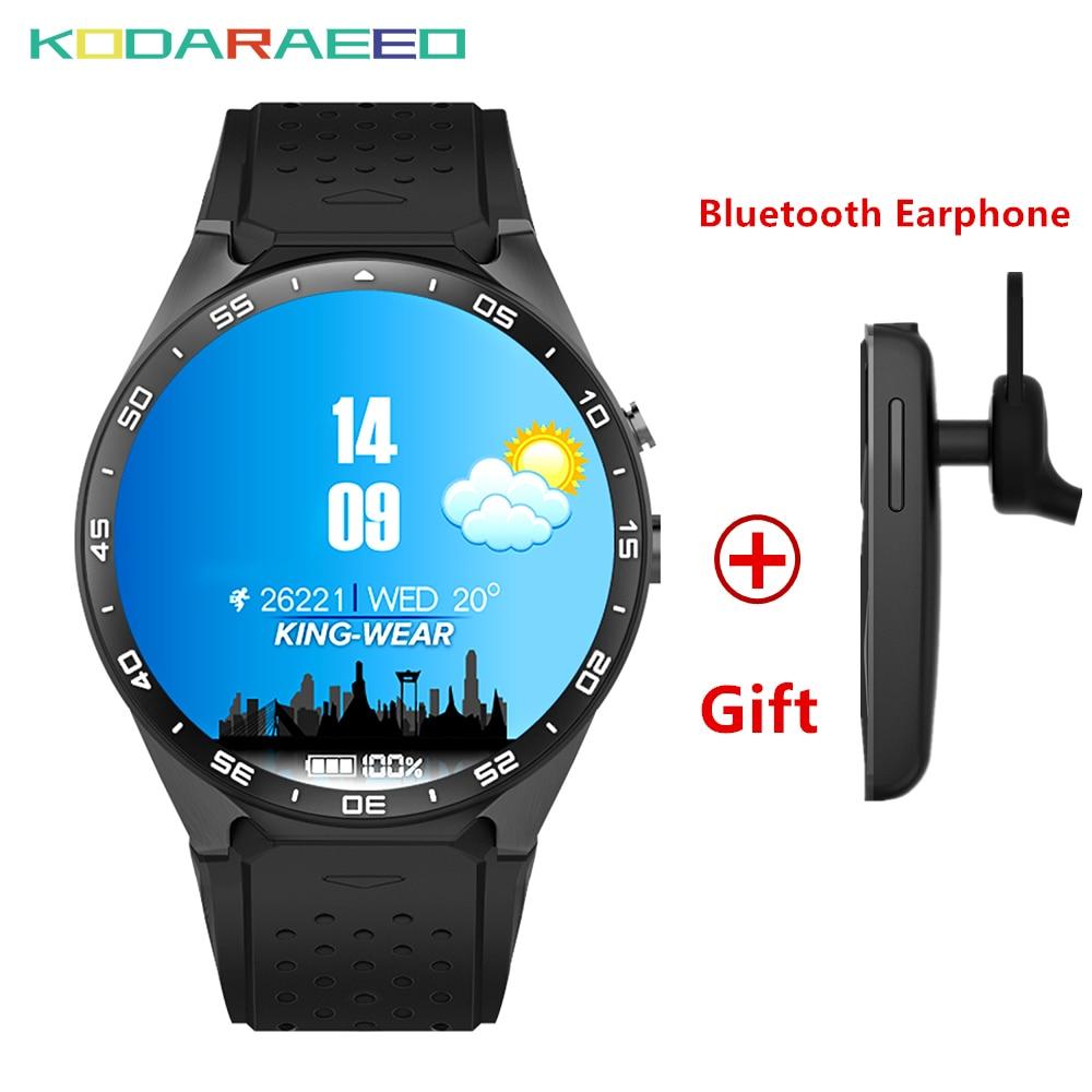 цена на KW88 Smart Watch 1.39 Inch MTK6580 Quad Core 1.3GHZ Android 5.1 3G Smart Watch phone 400mAh 2.0 Mega Pixel Heart Rate tracker