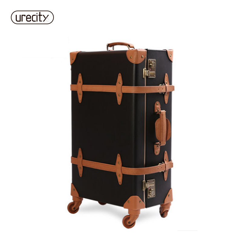 2018 voyage bagages peau de porc en cuir matériel valise roulant spinner véritable unisexe report-ons haute qualité livraison gratuite