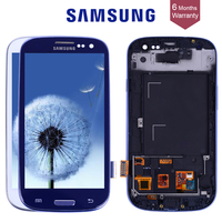 Original TESTED For SAMSUNG Galaxy S3 Display I9300 Touch Screen Digitizer Replacement For SAMSUNG Galaxy S3