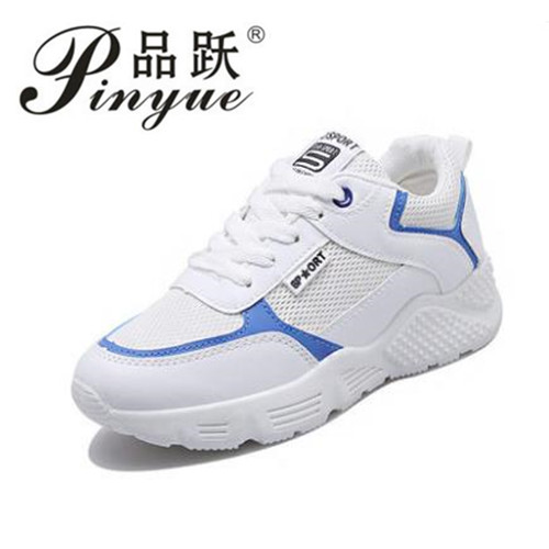 Womens fashion 2018 Summer white pink sneakers ladies tenis feminino light breathable shoes for Woman basket femme