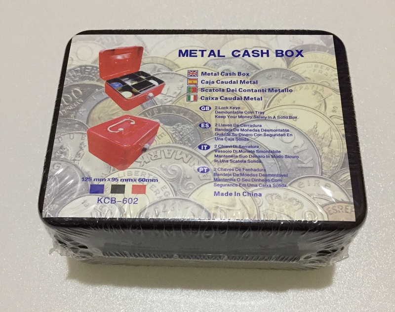 300mm*240mm*90mm Steel Key Safe Cash Boxes Store Content Paper Piggy Bank Card A4 Document Large Boxes