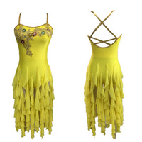2015 New Style Modern Latin Dance Dress Ballroom Dress Salsa Dresses Discount Dancewear Women Sexy Night Club Dress Costume
