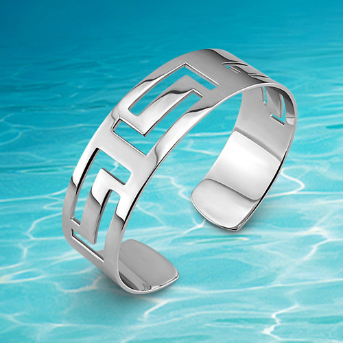 Cuff bangle hollow 925 sterling silver fashion OL elegant woman's bracelet & bangle quartz cuff bangle