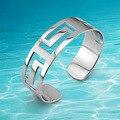 Cuff bangle hollow 925 sterling silver fashion OL elegant woman's bracelet & bangle