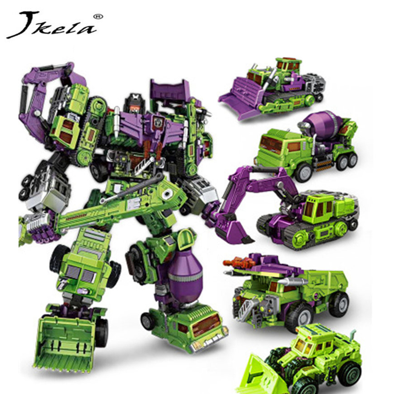 [Jkela] NewNBK1-6 Transformation Robot Toys Ko Version Gt HOOK Long Haul Mixmaster Forklift excavator Action Figures Robot Toys