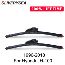 SLIVERYSEA Replace Wiper Blade for Hyundai H-100 1996-2018 Windshield Windscreen Natural Rubber Replacement