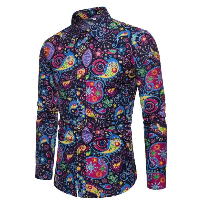 Лидер продаж 2019 г. Весенняя мода с длинным рукавом для мужчин 'S рубашки для мальчиков прилив цвет повседневное белье Slim Fit рубашк