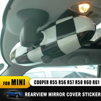Interior Rearview Mirror Cover Cap Shell For Mini Cooper One S Countryman R55 R56 R57 R58 R60 R61 Union Jack accessories sticker