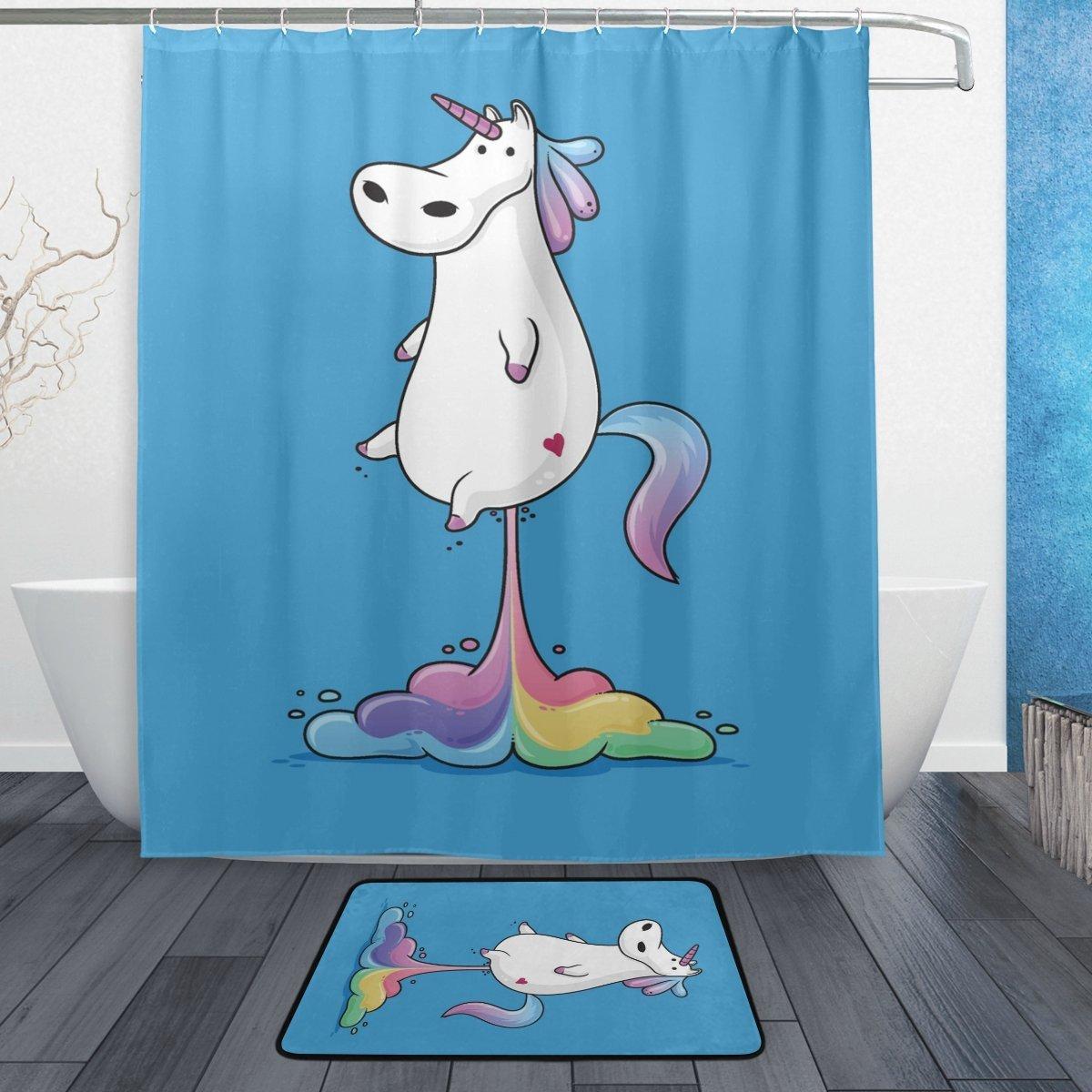 watercolor hippopotamus bathroom shower curtain waterproof fabric w 12 hooks