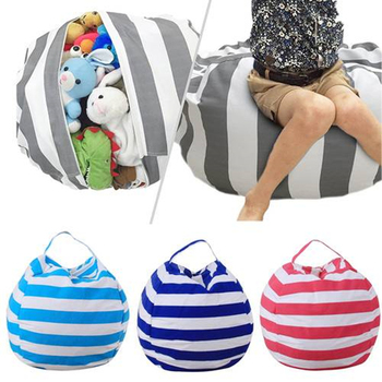 Bolsa de almacenamiento de juguetes de peluche de gran capacidad gruesa para bebés y niños, bolsa de artículos diversos de 5 colores