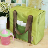 Fashion Korean Style Candy Color Cute Thermal Lunch Tote For Girls Aluminum Foil Protective Cooler Bag