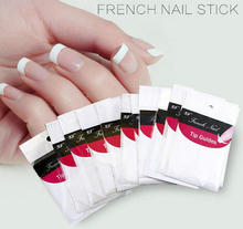 1pc hot sale Nails Sticker Nail Art Decals French Nail cut color paste Form Fringe Tips