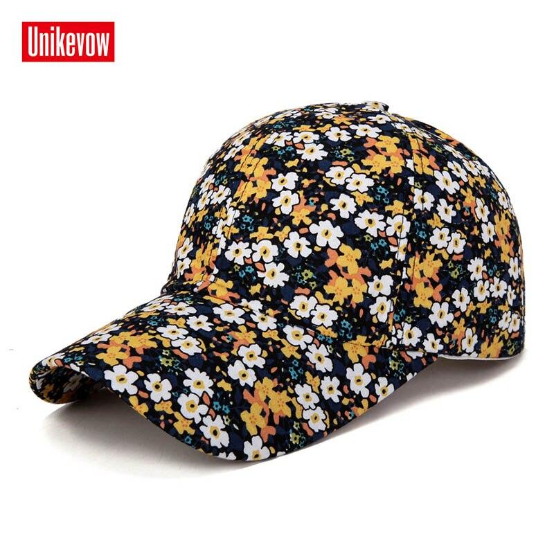 2019 Samll Floral Baseball Cap For Women Summer Beach Fashion Sun hat in Women 39 s Baseball Caps from Apparel Accessories