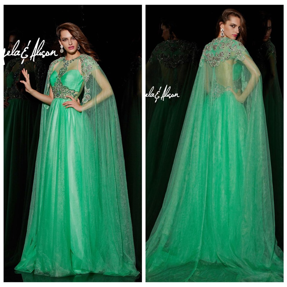 Aliexpress.com : Buy 2017 emerald Green Long Sheer With Sleeves ...