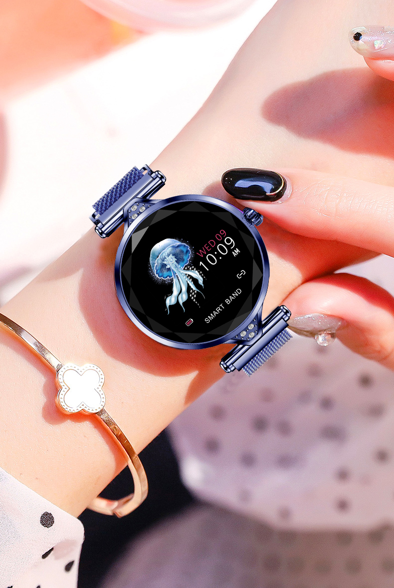 H1 Women Fashion Smartwatch Wearable Device Bluetooth Pedometer Heart Rate Monitor Smart Watch For AndroidIOS Smart Bracelet (18)