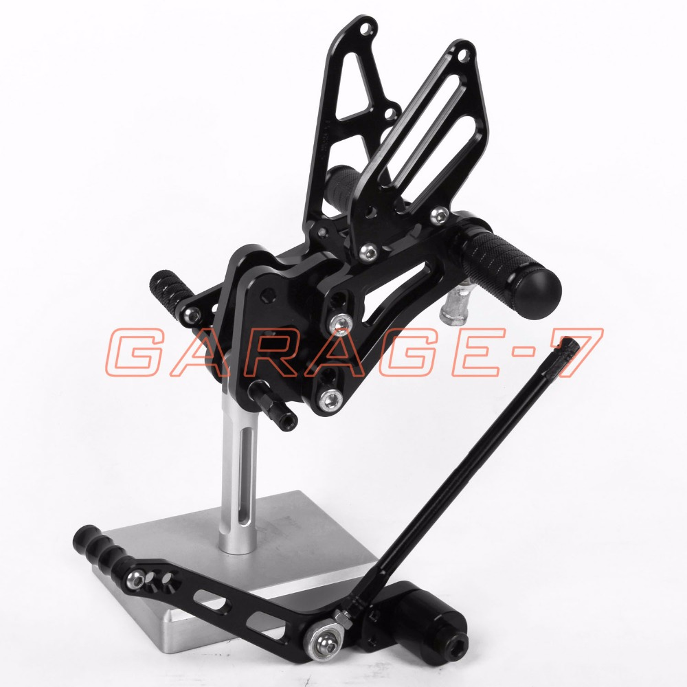 For Suzuki GSXR 600 GSXR 750 2006-2010 Rear sets Adjustable  Foot Pegs Rear Black Motorcycle Foot Pegs Hot Sale Motorcycle CNC