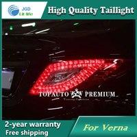Car LED Tail Light Parking Brake Rear Bumper Reflector Lamp For Hyundai Verna Red Fog Stop