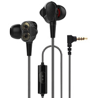 Newest 4 Speaker Double Dynamic HiFi Earphone Headphones Lossless Sound Quality Headset With HD MIC 3