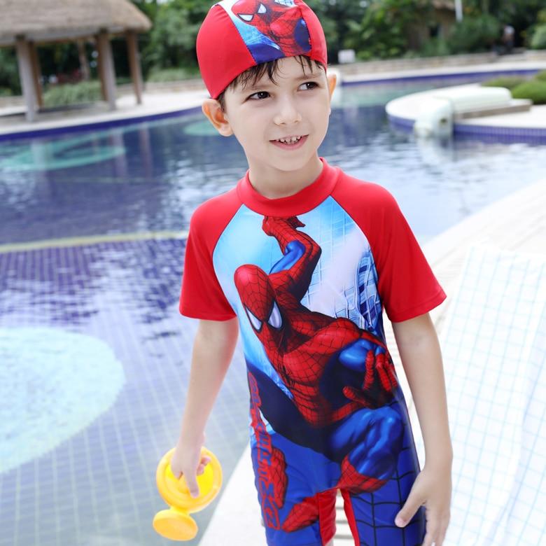 Spider-man Style Surfing Clothes For 3-10Y Little Boys,Kids One-piece Beachwear Swimwear,High Quality Children Clothing пластилин spider man 10 цв