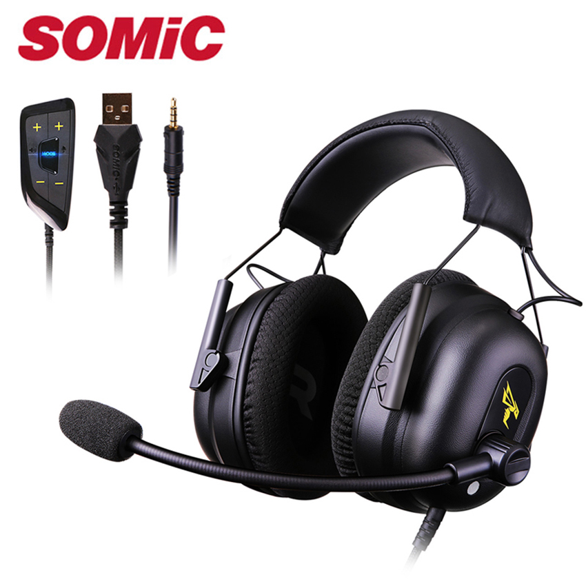 Somic G936N Stereo Gaming Headset casque PS4 7 1 Virtual Surround USB Gamer Headphone Wired with