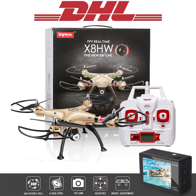 2017 Syma X8HW 2.4G 4 CH 6 Axis RC Drone With WIFI Camera HD FPV Remote Control Helicopter Quadcopter Toys For Children Grownups yc folding mini rc drone fpv wifi 500w hd camera remote control kids toys quadcopter helicopter aircraft toy kid air plane gift