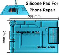 Efix Hot Air Gun Station Heat Resistant Insulation Magnetic Silicone Pad Desk Mat Fix IPhone BGA