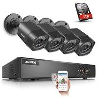 ANNKE HD 1080N TVI 4in1 8CH DVR Smart Search 1500TVL 720P Security Camera System