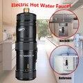 220V 3400W Instant Heizung Elektrische Heißer Küche Elektrische Wasserhahn Wasser Heizung Heißer Wasser System Dusche Tippen Badezimmer küche-in Elektrische Warmwasserbereiter aus Haushaltsgeräte bei