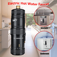 220V 3400W Instant Heating Electric Hot Kitchen Electric Faucet Water Heater Hot Water System Shower Tap Bathroom kitchen