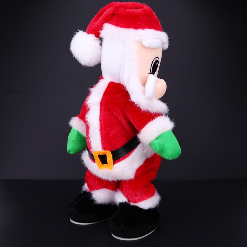 Christmas Electric Twerk Santa Claus Toy Music Dancing Doll Xmas Gift Festival Party Wedding Favors For Chidren Friends