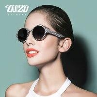 20 20 Fashion Polarized Sunglasses Women Brand Designer Points Men Vintage Eyewear Round Driving Unisex TR90