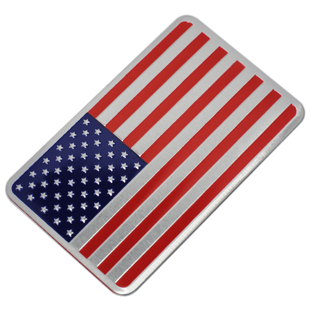 Metal Car Sticker American Flag Car Sticker Pack JDM Auto Stickers and Decals Car Styling Accessories Emblem Adhesive 1 pair door protector anti collision canada flag emblem 3d car stickers creative car styling automobile accessories