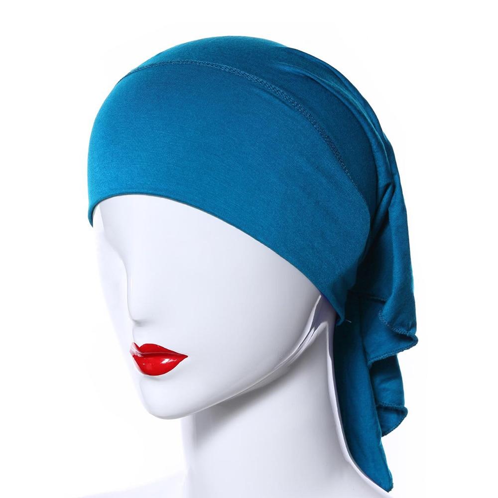 Womens Muslim Inner Hijab Caps Modal Underscarf Turbans For Women Islamic Under Scarf Cap Headwrap Muslim Hats