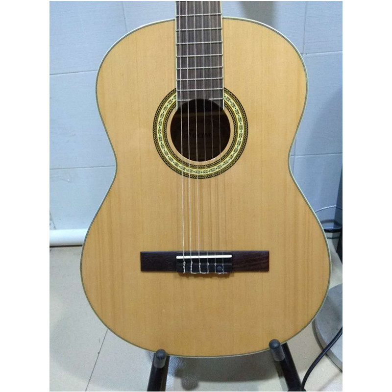 39inch Classical Acoustic Guitar Picea Asperata guitar Body Sapele Back Side fingerboard Rosewood with guitar strings 2016 new factory sunburst finish chibson j45 acoustic guitar classical double rhombic inlays rosewood body and sides