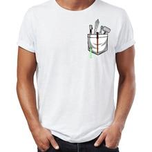 Men s T Shirt A Good Guy s Office Supply Lightsaber Pocket Artsy ... 4e00b709faf9