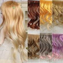 5Pcs lot Beautiful Big Wavy Wigs SD BJD Dolls Fluffy Handmade Curly Wig Hair Synthetic Fiber