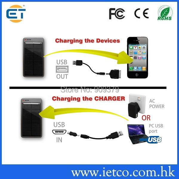 130 Preço Especial li-bateria de polímero externa 3000 mah carregador de painel solar