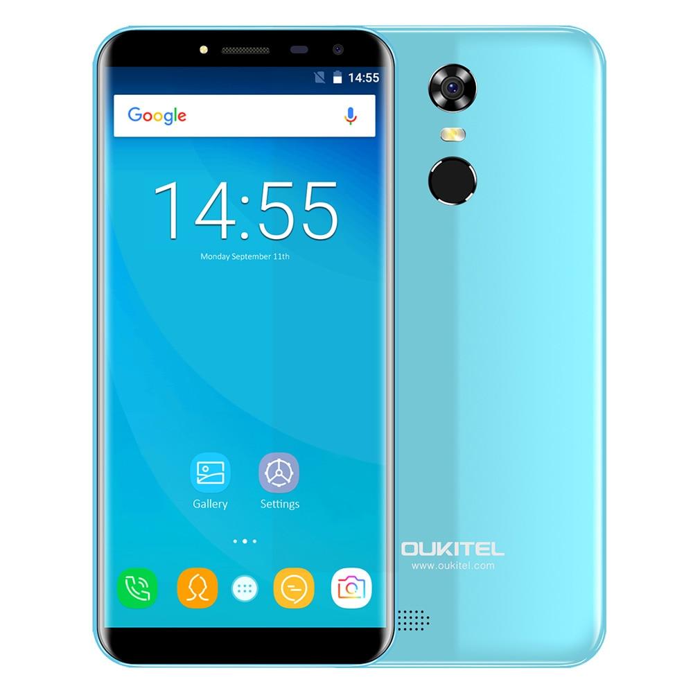 OUKITEL C8 3g Phablet Smartphone 5,5 zoll Android 7.0 MTK6580A Quad Core 1,3 ghz Fingerprint Scanner 8.0MP Hinten Kamera Handy