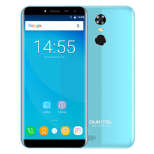OUKITEL C8 3G Phablet Smartphone 5.5 Inch Android 7.0 MTK6580A Quad Core 1.3GHz Fingerprint Scanner 8.0MP Rear Camera Cellphone