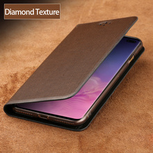 Flip Phone Cases For Samsung Galaxy S6 S7 edge S8 S9 S10 Plus Diamond Texture For Note 8 9 A5 A7 A8 2018 J3 J5 J7 2017 case luxury flip phone case for samsung galaxy s6 s7 edge s8 s9 plus litchi texture suction cup cover for note 8 9 a5 a7 a8 j3 j5 j7